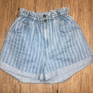 Billabong Ruffle Waist Denim Shorts